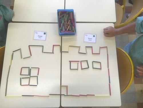 Graphisme Période 01 : Les châteaux forts (lignes verticales et horizontales)
