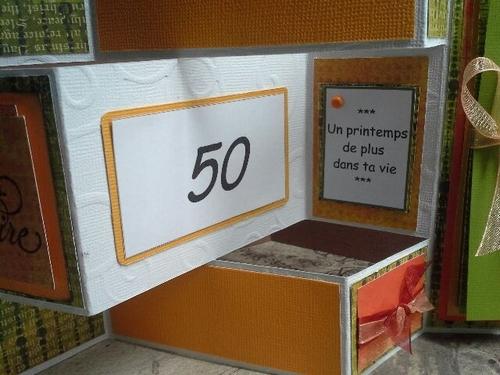 Carte pop up pour un anniversaire 50 ans