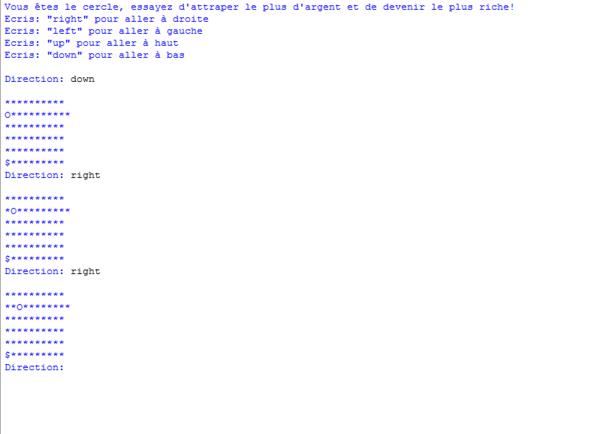 Un jeu en Python avec map et personnage