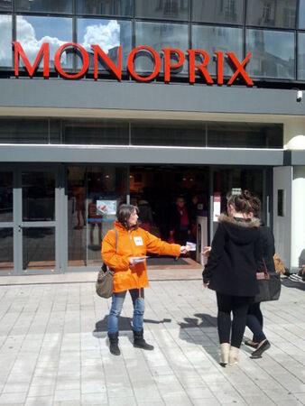 Tractage Monoprix - Avril