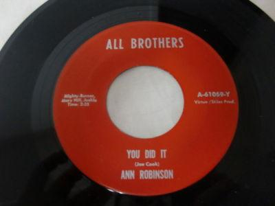 ANN ROBINSON - you did it ( Soul Funky )