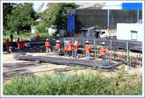 Thaïlande. Travail sur un chantier.