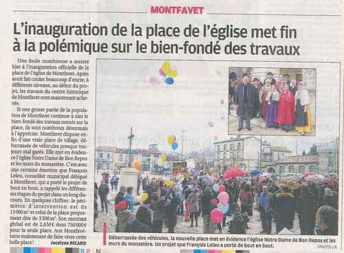 INAUGURATION PLACE DE L'EGLISE MONTFAVET 17 février 2014