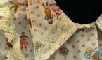 Col Pointe sur une chemise de nuit vintage