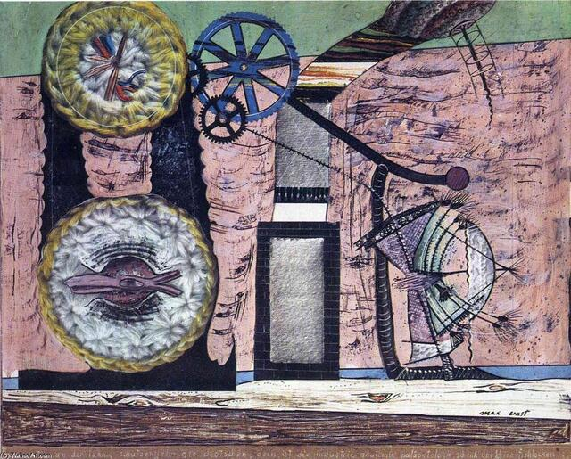 , collage de Max Ernst (1891-1976, Germany)
