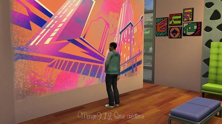 Les sims 4 ! Musée d'Art contemporain