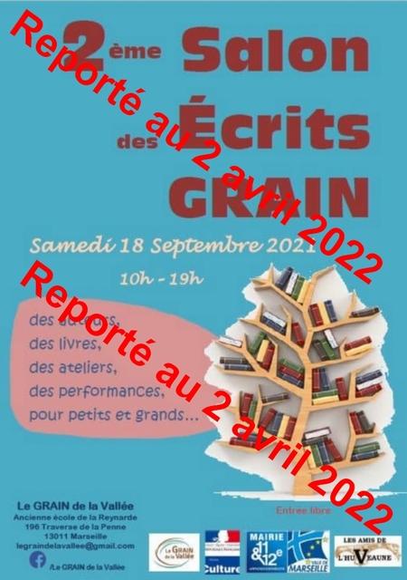 Le salon des Ecrits GRAIN 2ème édition, le 18 septembre 2021