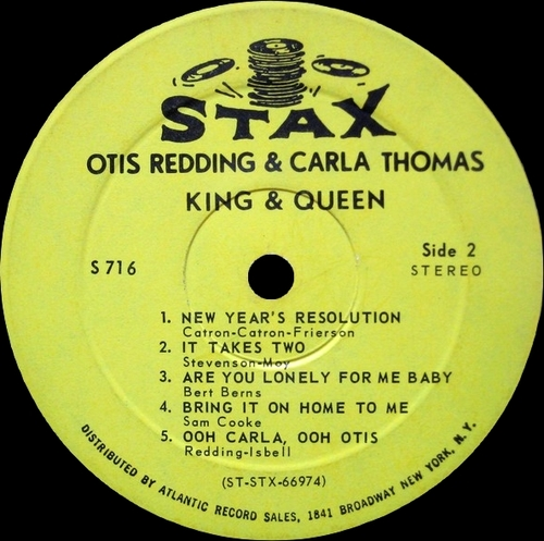 "Otis Redding & Carla Thomas : Album "" King & Queen "" Stax Records S 716 [ US ]"