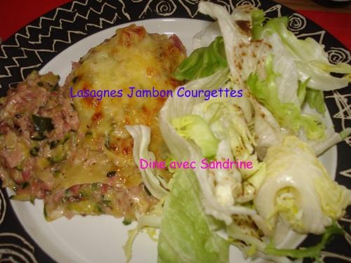 Des Lasagnes Courgettes râpées et Jambon