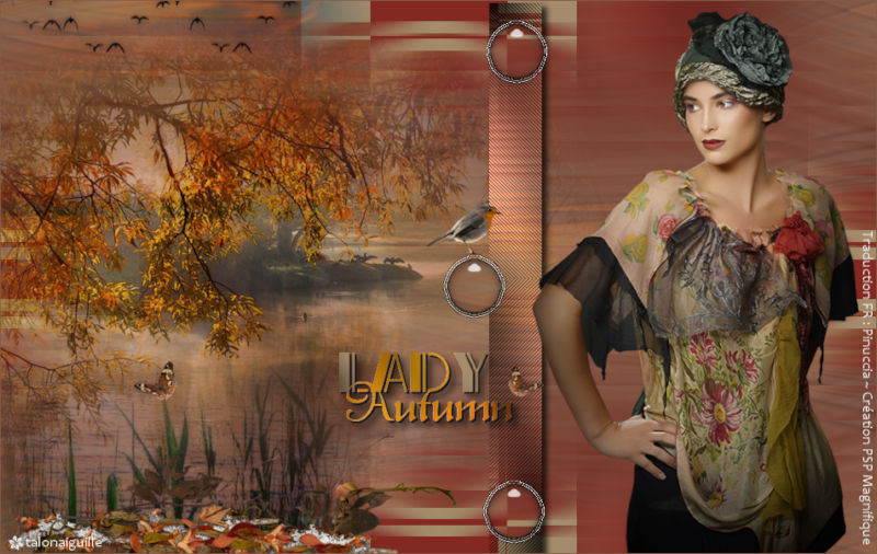 *** Lady in autumn forest ***
