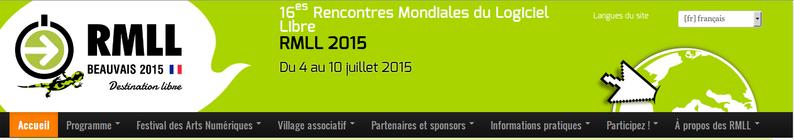 RMLL 2015 BEAUVAIS, 16 EME RENCONTRES MONDIALES DU LOGICIEL LIBRE