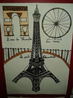Décoration de porte tour Eiffel