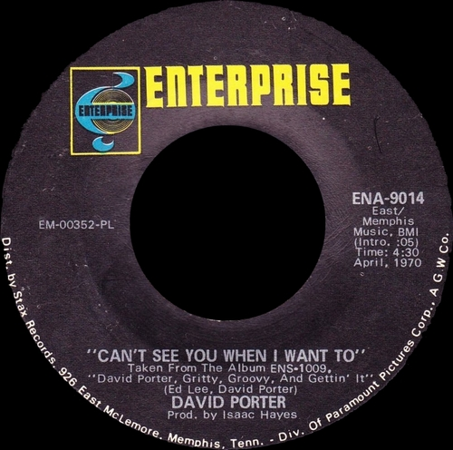 "David Porter : Album "" Gritty , Groovy And Gettin' It "" Enterprise Records ENS-1009 [ US ]"
