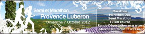 Marathon du Luberon du 7 octobre 2012 : Objectif 3h45