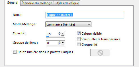 Luminance heritee 15