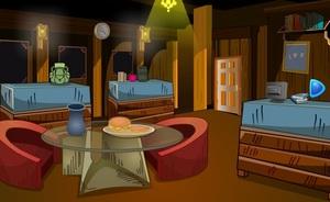 Jouer à Dark wooden house escape