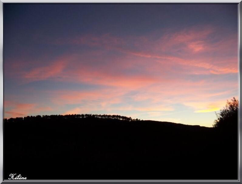 Dimanche soir le ciel du midi s'est embrassé pour me dire au revoir!