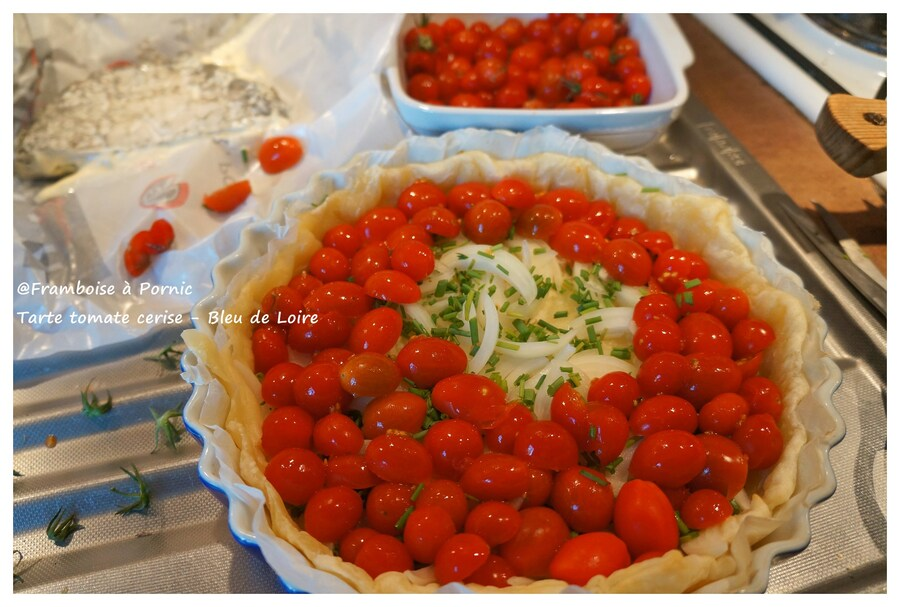 Tarte tomate cerise et bleu de Loire