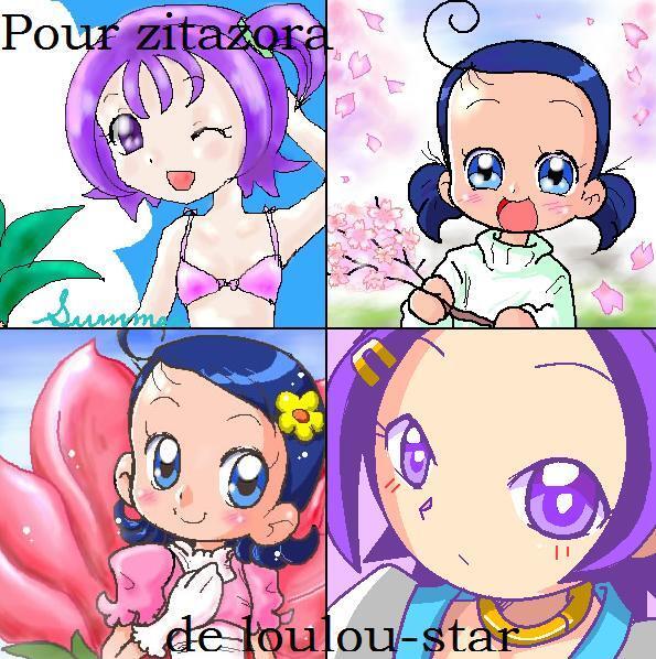 Montage de Sophie et Loulou partagé en 4 pour Zitazora