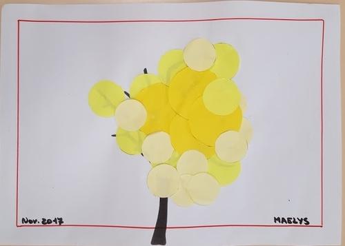 Les ronds, collage à la manière d'A. VANDERBOGAARD