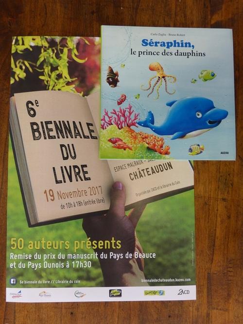 L'illustrateur Bruno Robert à la Biennale de Châteaudun le 19 nov 2017