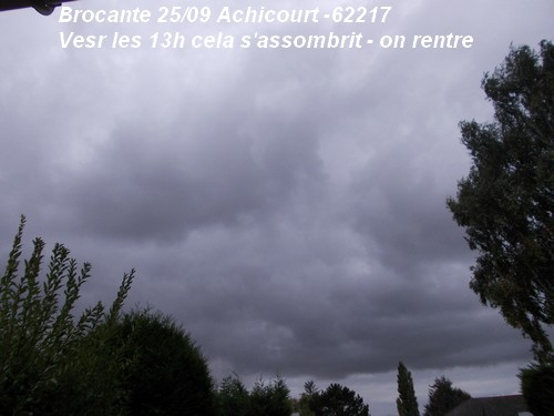 Un ciel menaçant mais pas de pluie à la brocante.