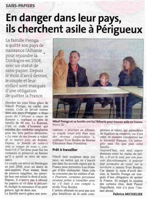 Conférence de presse famille Prenga