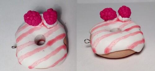 Donut vanille framboise !