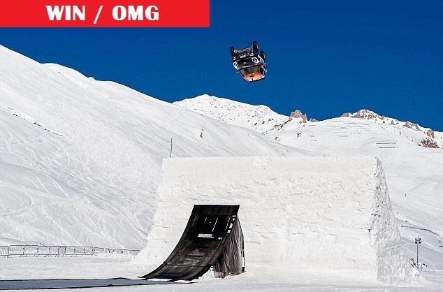 Il realise le premier backflip sur neige avec une voiture