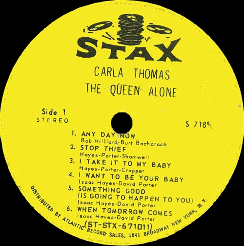 "Carla Thomas : Album "" The Queen Alone "" Stax Records S 718 [ US ] en Juillet 1967"