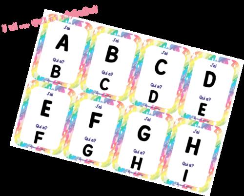 J'ai .... qui a..... ? de l'alphabet