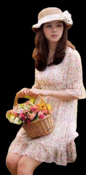 Tubes femmes fleurs création 12