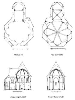 Plans de la chapelle des Templiers de Metz