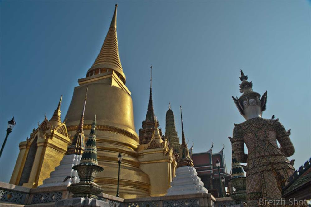 Entrée au Wat Phra Kaew Grand Palais de Bangkok