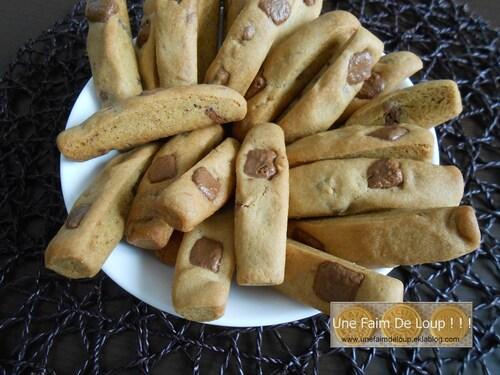 Biscuits fingers aux pépites pralinoise
