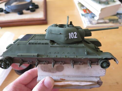T34 à la peinture