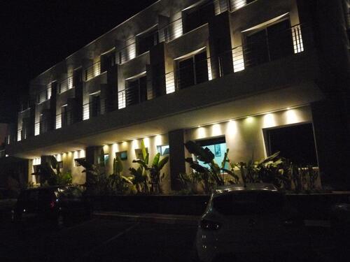 La cour de l'hôtel