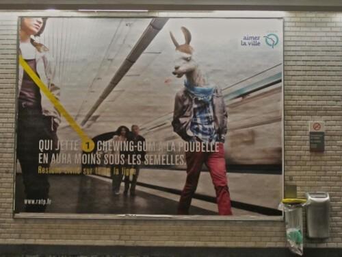 affiche RATP conseils bestiaire lama