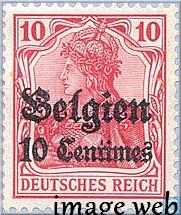 De 1914 à 1918  - La poste en Belgique