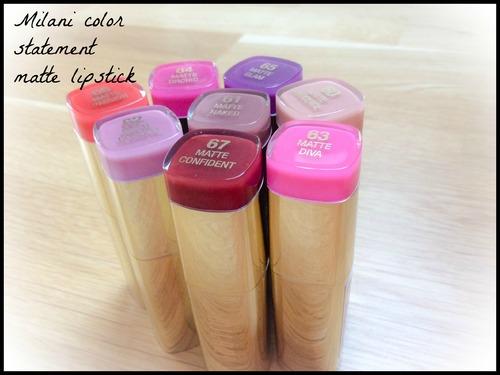 ♥ Nouveaux rouges à lèvres mats Milani color statement ♥