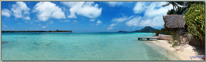 Vues panoramiques sur l'île de Maupiti à partir du motu Tiapaa - Polynésie française