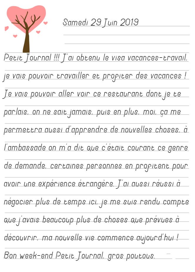 Journal de Mireille, 29 Juin 2019