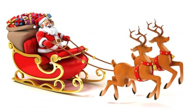 Jour fériés Nouvel An Cervidés Papá Noel Corne 3D Graphiques