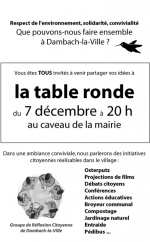 Tables-rondes éco-citoyennes