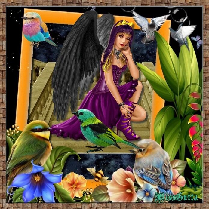 Premiers frimas défi pour amie Beauty & l'ange des oiseaux pour Manik!