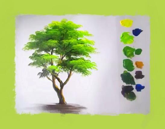 Dessin Et Peinture Video 2600 Comment Peindre Un Arbre Acrylique Ou Huile Le Blog De Lapalettedecouleurs Over Blog Com