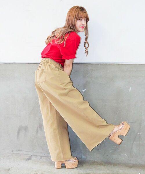[PIMMY] - Pantalon large - 10 584¥