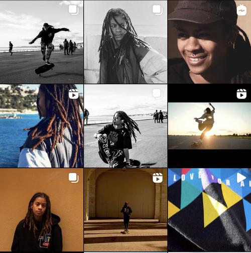 Le skate sur Instagram