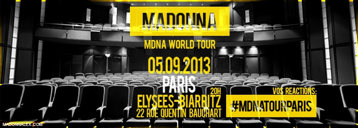 Madonna - MDNA WORLD TOUR - Elysees-Biarritz