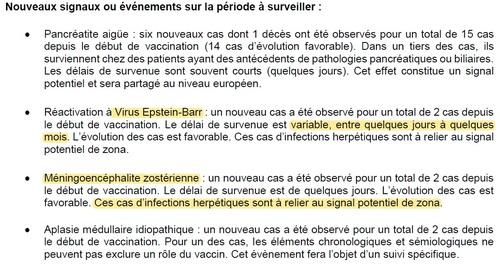 Suivi des effets indésirables des vaccins covid
